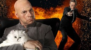 Mayo and Kermode as Bond and Blofeld
