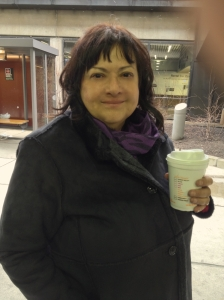 Susan with coffee