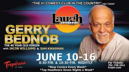 Gerry Bednob at the Laugh Factory